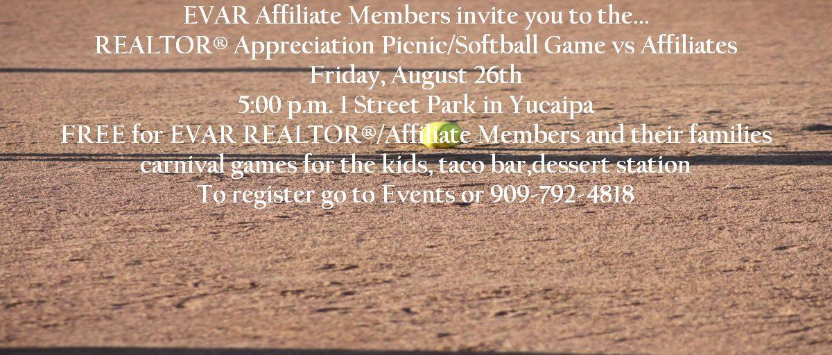 Permalink to: REALTOR® Appreciation Picnic/Softball Game