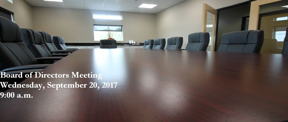 Permalink to: September Board of Directors Meeting